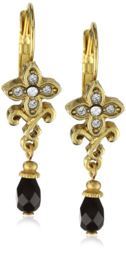Antiquities Couture Antique Swarovski Crystal and Gold-Tone Earrings