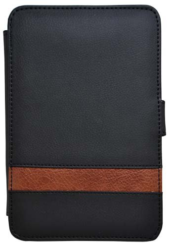 CrazyOnDigital Stand Leather Case Cover For Amazon New Kindle 4 (Black Brown)