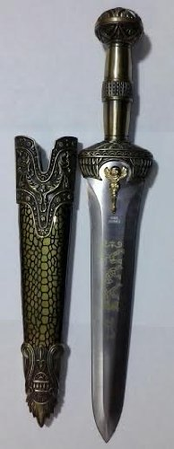 Fantasy Hunting Knife With Angel And Faux Jeweled Top