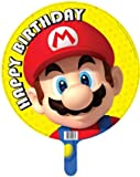 "Super Mario ballon ""Happy Birthday"" feuille (dégonflé)"