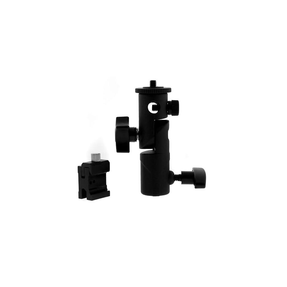 GTMax Swivel Flash Mount Bracket With Umbrella For Nikon SB600 SB800 SB900 Canon Speedlite