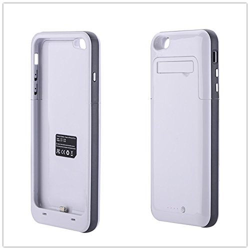 Ultra ? White and Silver Power Bank Charger Case for Apple iPhone 6 plus 6s Plus 6000 mah 5.5