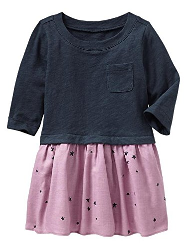 Gap Baby Mix Media Starry Dress Size 2 Yrs front-939447