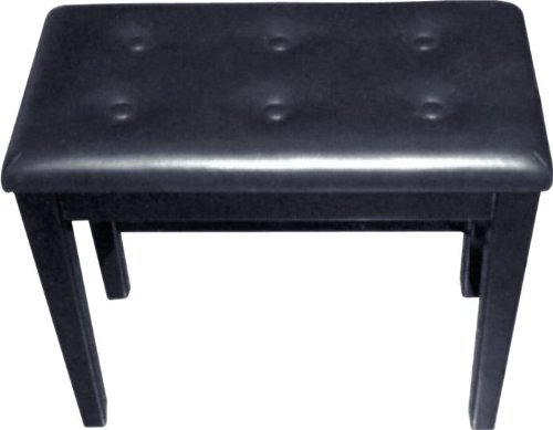 Review Palatino BP-090-BK Leather Padded Piano Bench, Black
