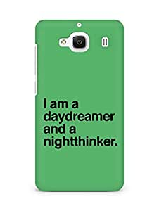AMEZ daydreamer and night thinker Back Cover For Xiaomi Redmi 2 Prime