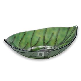 Leaf Shaped Tempered Glass Vessel Sink