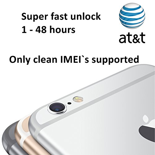 AT&T Fast Factory Unlock Service for iPhone 4s, 5, 5c, 5s, 6, 6 Plus - Clean IMEI`s only - Feel the freedom - Lifetime Guarantee (Unlock Service Iphone 4s compare prices)