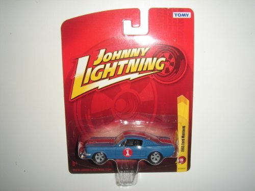 2011 Johnny Lightning R19 1965 Ford Mustang Matte Blue/Red