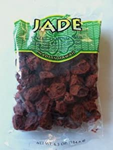 Jade Brand Red Li Hing Mui Dried Plums 6.5 Ounces Made in Hawaii