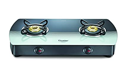 Prestige Premia Glass Gas Cooktop (2 Burner)