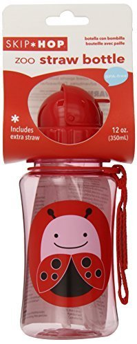 Skip Hop Drinking Bottle With Straw Spout Zoo Ladybird By Skip Hop