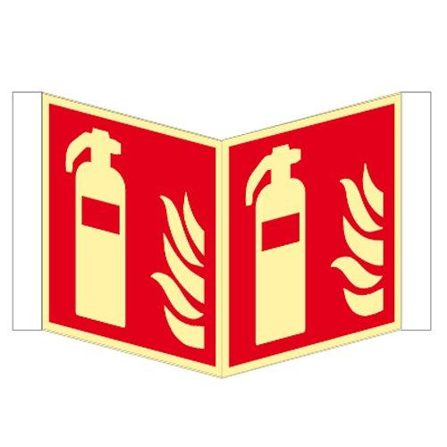 Feuerlscher-Winkelschild-Kunstsoff-nachleuchtend-ISO-150-x-150-mm