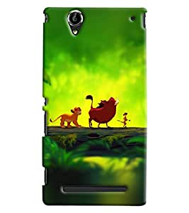 Blue Throat Jungle Book Characters Printed Designer Back Cover/ Case For Sony Xperia T2