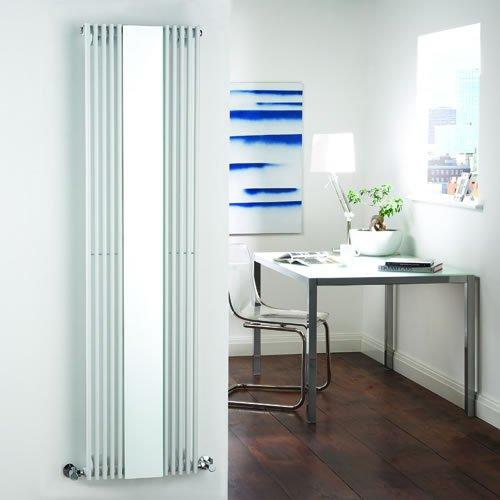Luxury White Mirror Vertical Designer Central Heating Column Radiator - 1600mm x 420mm