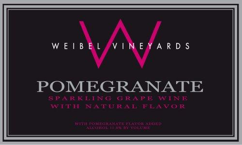 Nv Weibel Family Sparkling Pomegranate Wine 750Ml