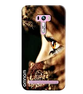 Omnam Girl Eyes In Closeup Printed Designer Back Cover Case For Asus Zenfone Selfie