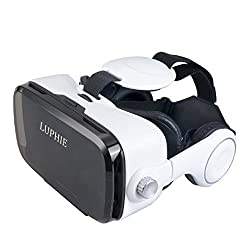 3D VR Virtual Reality Headset with Stereo Headphone and Adjustable strap for 4.0-6.5 inch Smartphones