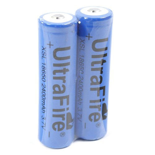 Ultrafire X 2-18650 2400mah 3.7v Rechargeable Batteries