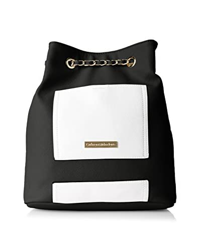 CATHERINE Catherine Malandrino Women's Olivia Chain Backpack, Black/White As You See