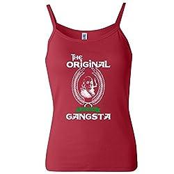 The Original Gangsta Gangster Benjamin Franklin Women's Spaghetti Tank Top
