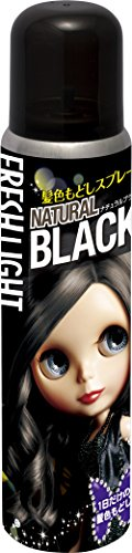 フレッシュライト 髪色もどしスプレー ナチュラルブラック 85g