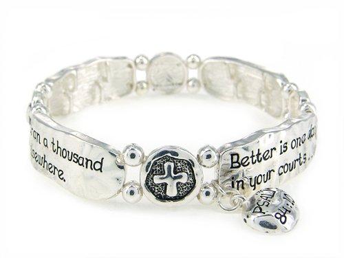 4030251 Religious Christian Bible Cross Jewelry Bracelet Psalm 84:10