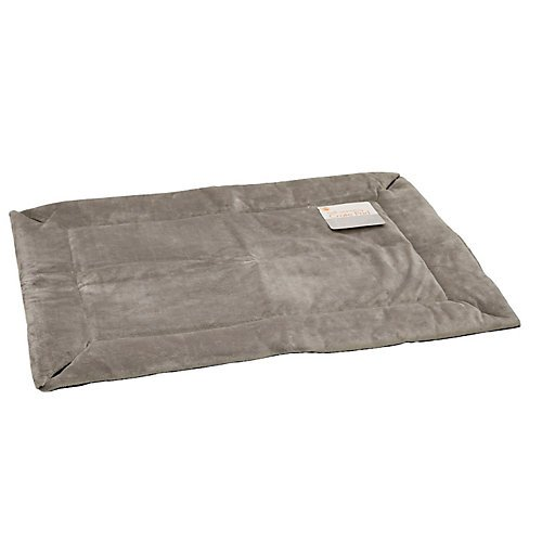 K H Washable, Cozy Soft, Self Warming Dog Crate Pad - Giant / Gray front-1058190