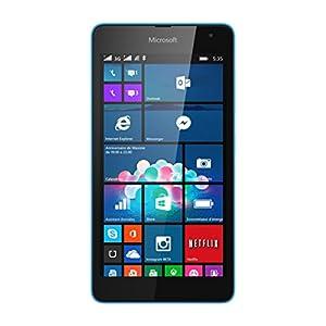 Microsoft Lumia 535 Smartphone débloqué 3G (Ecran: 5 pouces - 8 Go - Double SIM - Windows) Bleu