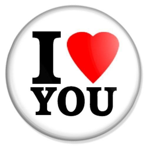 Button I love you - I love Badge, I love Pin, I love Badges, I love Button, I love Pins