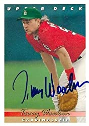 Tracy Woodson autographed Baseball Card (St. Louis Cardinals) 1993 Upper Deck #728