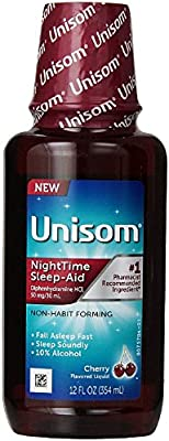 Unisom Nighttime Sleep Aid Liquid, Cherry 12 oz