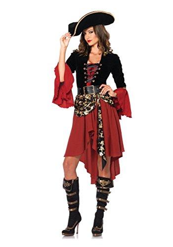 Women's 2 Piece Cruel Seas Captain Pirate Costume