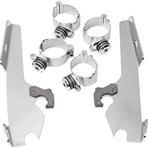 Memphis Shades Trigger-Lock Mount Kit for Batwing Fairing - Polished MEK1923