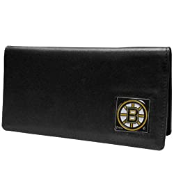 NHL Boston Bruins Executive Genuine Leather Checkbook Cover
