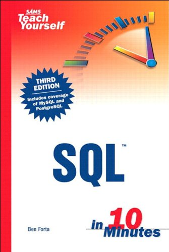 Sams Teach Yourself SQL in 10 minutes Ebook