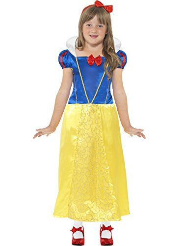 [Snow Princess Costume, Medium Age 7-9, Girls Fancy Dress, Snow White] (Storybook Costumes Australia)