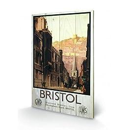 Vintage - 2, Bristol Cuadro De Madera (60 x 40cm)