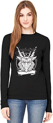 Lamb of god T-Shirt da Donna a Maniche Lunghe Long-Sleeve T-shirt For Women| 100% Premium Cotton| DTG Printing| Large
