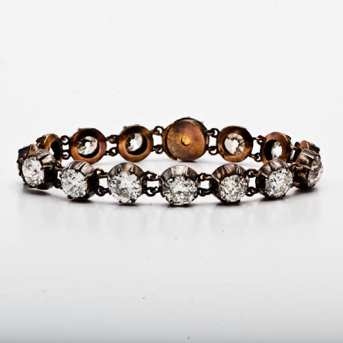 20.00 carats diamond Gold bracelet; Antique Diamond