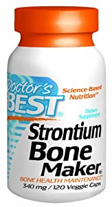 Doctor's Best Strontium Bone Maker (340mg Elemental), 120-Count