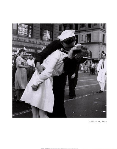 Kissing War Goodbye Vj Day Times Square 7/14/1945 Print Lt Victor Jorgensen22X28