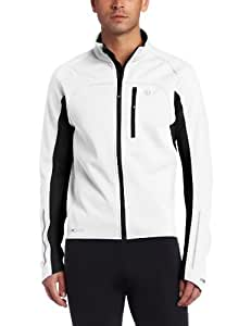 Pearl Izumi Men's Elite Softshell Jacket, Medium, White/Black