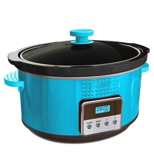 BELLA 13996 Dots Collection Programmable Slow Cooker, 5-Quart, Teal