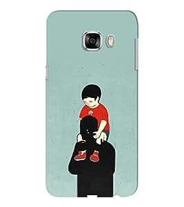 EPICCASE Love you dad Mobile Back Case Cover For Samsung C5 (Designer Case)