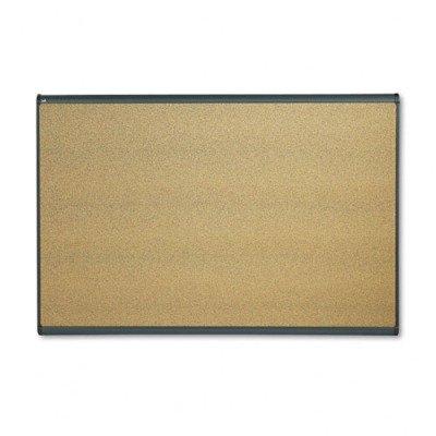 Quartet B247G Quartet Prestige Bulletin Board, Graphite-Blend Cork, 72 X 48, Aluminum Frame