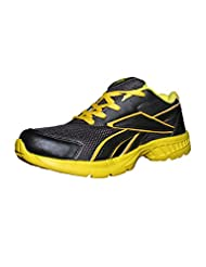 Port Yellow Black Sports Shoes