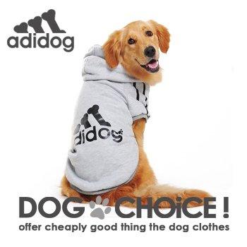 【DOG CHOiCE!】 adidog もこもこあったか 裏起毛フードパーカー/アディドッグ秋冬モデル 7カラー S~9XL 小型犬から超大型犬まで (レッド, L)