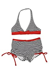 Kate Mack Girl's 2-6X Bateau L'Amour 2pc Boy Leg Swimsuit - Navy