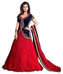 Shree Sai Trading Blue & Red Lehngha Choli