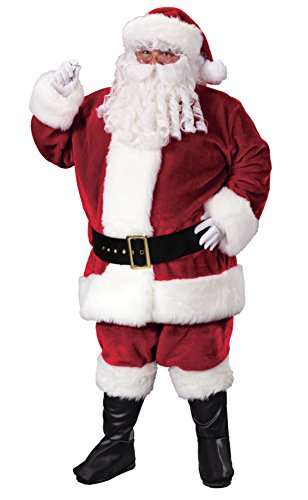 Funworld Mens Father Christmas Santa Suit Theme Party Holiday Costume